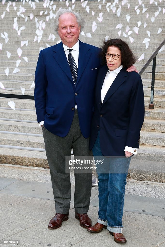 Vanity Fair editor Graydon Carter and author Fran Lebowitz attend the Vanity Fair Party during the 2013 Tribeca Film Festival at the State Supreme Courthouse on April 16, 2013 in New York City.