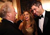 Vanity Fair Editor Graydon Carter Sofia Vergara and Nick Loeb attend the Bloomberg Vanity Fair cocktail reception following the 2014 WHCA Dinner at...