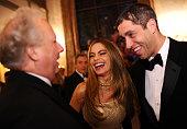 Vanity Fair Editor Graydon Carter Sofia Vergara and Nick Loeb attend the Bloomberg Vanity Fair cocktail reception following the 2014 WHCA Dinner at...
