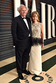 Vanity Fair EditorinChief Graydon Carter and Anna Scott attend the 2015 Vanity Fair Oscar Party hosted by Graydon Carter at the Wallis Annenberg...