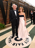 Vanity Fair EditorinChief Graydon Carter and Anna Scott Carter attend the 2014 Vanity Fair Oscar Party Hosted By Graydon Carter on March 2 2014 in...