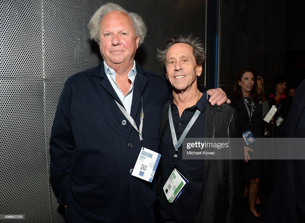 Vanity Fair EditorinChief Graydon Carter and Imagine Entertainment Cofounder Brian Grazer attend the Vanity Fair New Establishment Summit at Yerba...