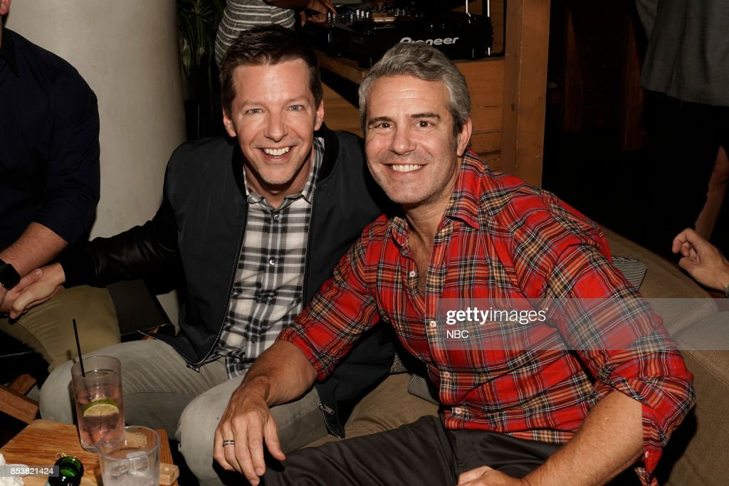 Vanity Fair Party at Mr. Purple NYC -- Pictured: (l-r) Sean Hayes, Andy Cohen --