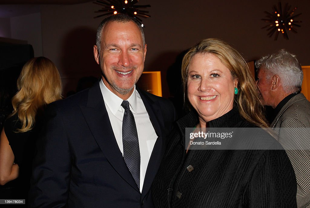 Vanity Fair publisher <a gi-track='captionPersonalityLinkClicked' href=/galleries/search?phrase=Edward+Menicheschi&family=editorial&specificpeople=4146425 ng-click='$event.stopPropagation()'>Edward Menicheschi</a> (L) and LA Editor of Vanity Fair Wendy Stark-Morrissey attend the Vanity Fair Montblanc party celebrating The Collection Princesse Grace de Monaco held at Hotel Bel-Air Los Angeles on February 21, 2012 in Los Angeles, California.