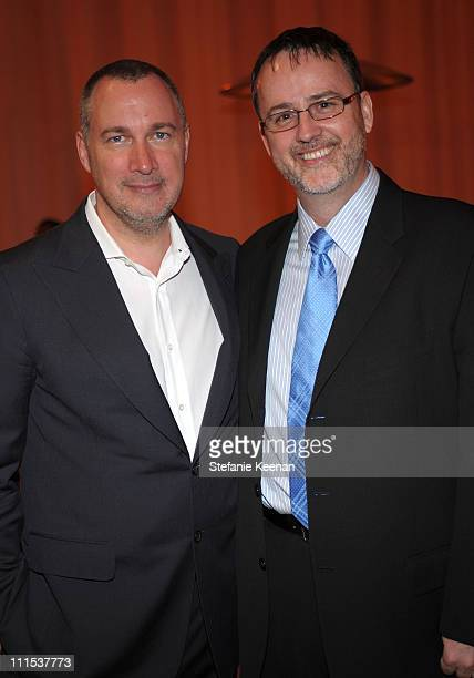 Vanity Fair publisher Edward Menicheschi and VP of Marketing BMW Jack Pitney attends the BMW Art Car US Tour hosted by Vanity Fair held at LACMA on...