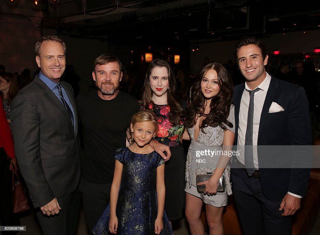 EVENTS -- 'NBC & Vanity Fair Toast the 2016-2017 TV Season' at NeueHouse Hollywood in Los Angeles on Wednesday, November 2, 2016 -- Pictured: (l-r) Robert Greenblatt, Chairman, NBC Entertainment; Ricky Schroder, Alyvia Alyn Lind, Mary Lane Haskell, Kelli Berglund, Cameron Jones, 'Christmas of Many Colors: Circle of Love' --