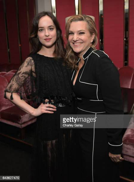 Vanity Fair West Coast Editor Krista Smith and host Dakota Johnson attend Vanity Fair and L'Oreal Paris Toast to Young Hollywood hosted by Dakota...