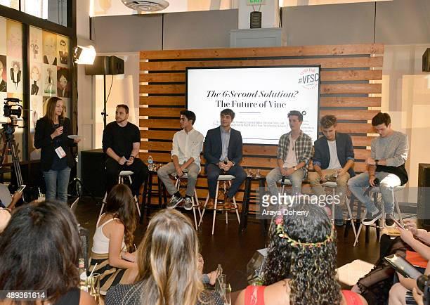 Vanity Fair's Associate Publisher Jenifer Berman The Influential Network founder Ryan Detert and social media influencers Brent Rivera Wesley...