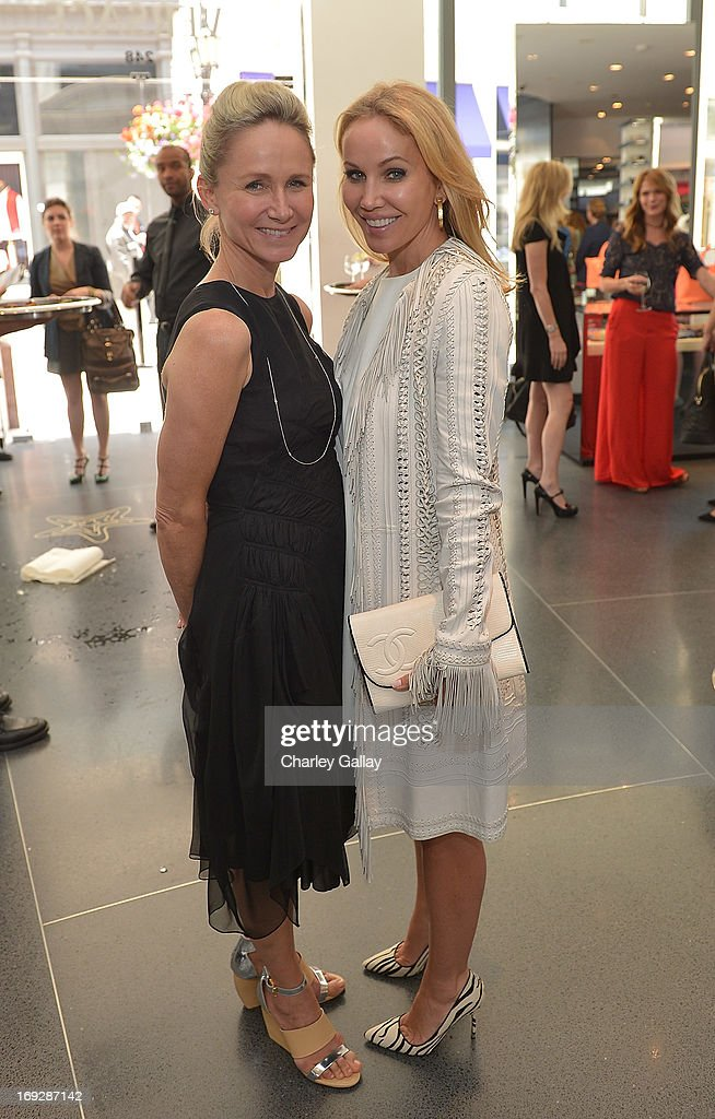 Vanity Fair's Jennifer Parker (L) and Brooke Davenport attend Versace, Vanity Fair, And Elizabeth Banks Luncheon Benefitting Vital Voices Global Partnership at Versace on May 22, 2013 in Beverly Hills, California.