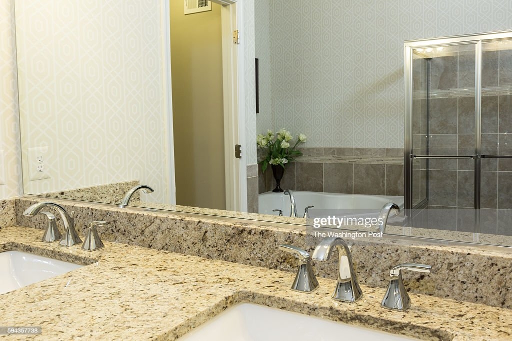 Vanity in the Master Bath in the Edinburgh Model at Admirals Ridge on August 11 2016 in Arnold Maryland