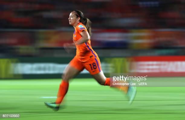 Vanity Lewerissa of the Netherlands in action during the UEFA Women's Euro 2017 Group A match between Belgium and Netherlands at Koning Willem II...