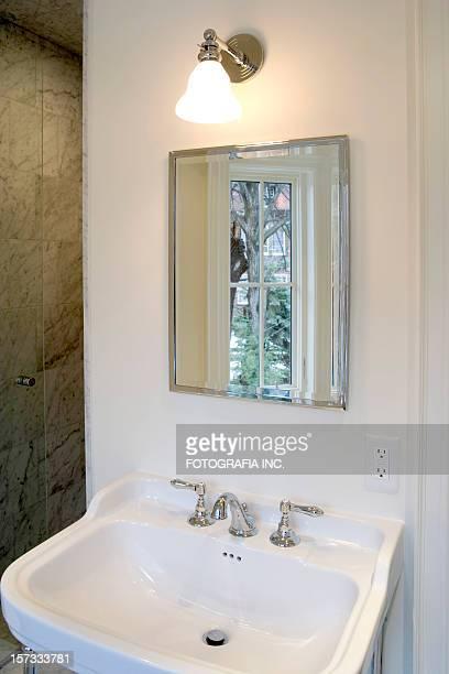 Vanity mirror and sink