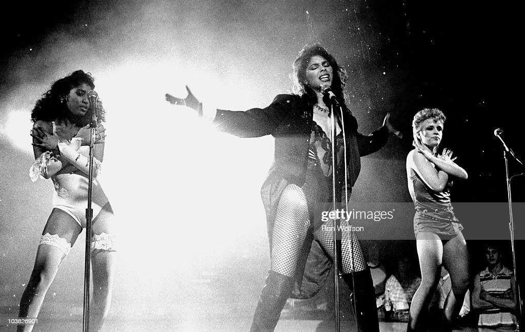 Vanity now known as <a gi-track='captionPersonalityLinkClicked' href=/galleries/search?phrase=Denise+Matthews+-+Singer&family=editorial&specificpeople=4427225 ng-click='$event.stopPropagation()'>Denise Matthews</a> performs with the group Vanity 6 on the TV Show 'Solid Gold'.