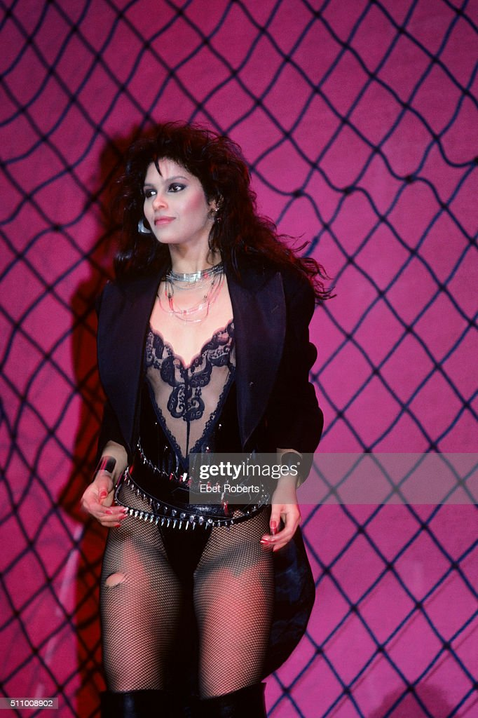 Vanity (Denise Matthews) Performing With Vanity Six Performing At Radio  City Music Hall In