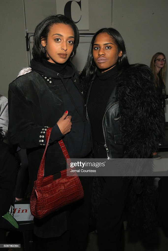 Vanna Gebremichael and Shelby Macklin attend the iiJin Fall 2016 fashion show during New York Fashion Week at Pier 59 on February 12, 2016 in New York City.