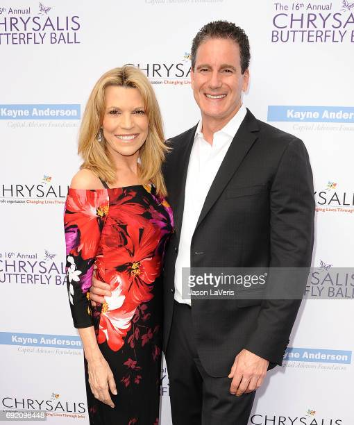 Vanna White and John Donaldson attend the 16th annual Chrysalis Butterfly Ball on June 3 2017 in Brentwood California