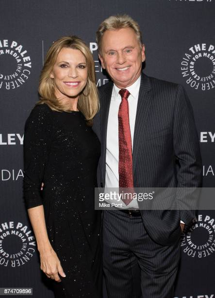 Vanna White and Pat Sajak attend The Paley Center For Media Presents Wheel Of Fortune 35 Years As America's Game at The Paley Center for Media on...