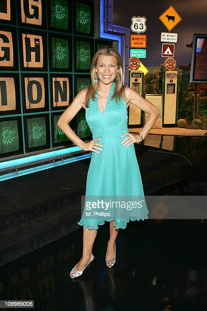 Vanna White CoHost of 'Wheel of Fortune' during 'Wheel of Fortune' and 'Jeopardy' Celebrate the Switch to Sony HD with Alex Trebek Vanna White and...