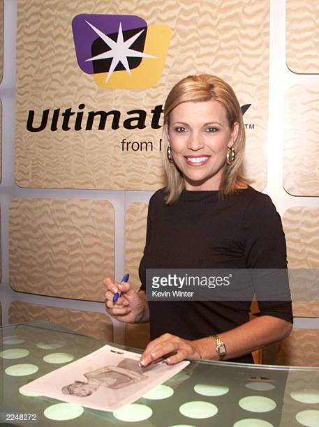 Vanna White was onhand to sign autographs and help promote 'Ultimate TV' at the Microsoft booth at the NATPE Convention in Las Vegas NV 1/23/01