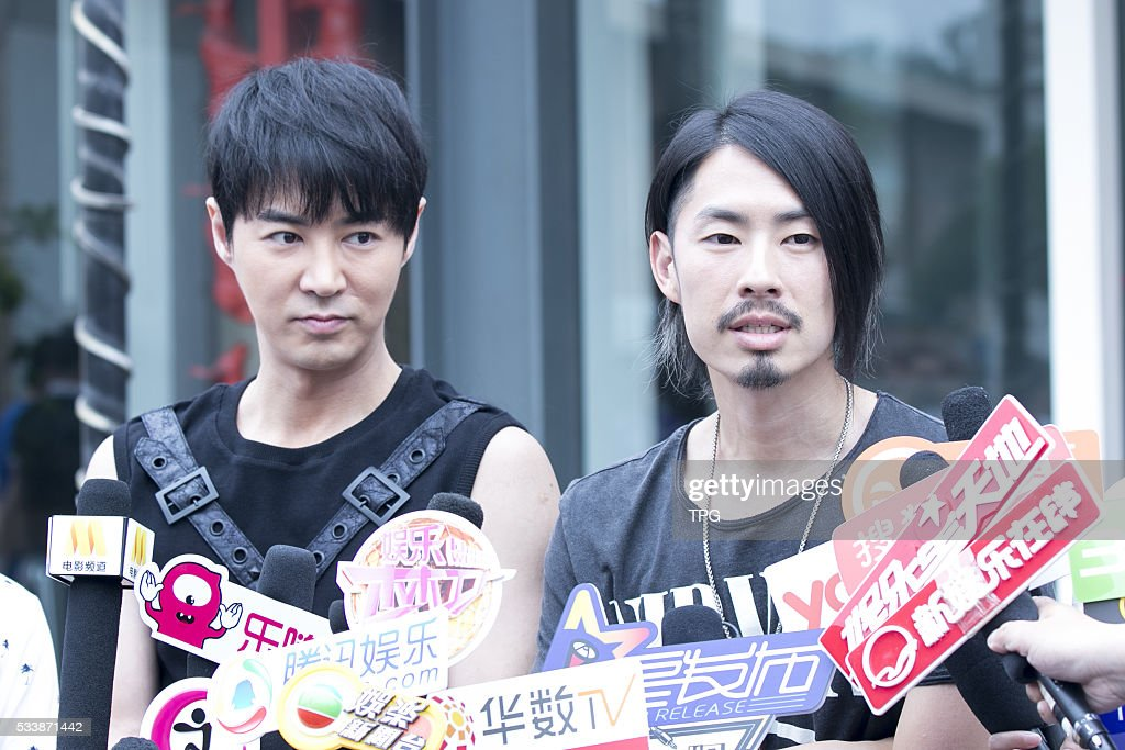 VanNess Wu and JunJin promote their new movie PILI Back on 23th May, 2016 in Beijing, China.