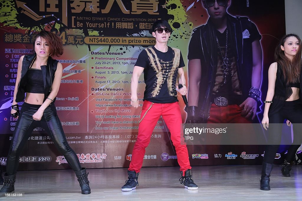 Vanness Wu attend Metro Street Dance Competition 2013 endorsement activity on Monday May 06,2013 in Taipei Taiwan,China.
