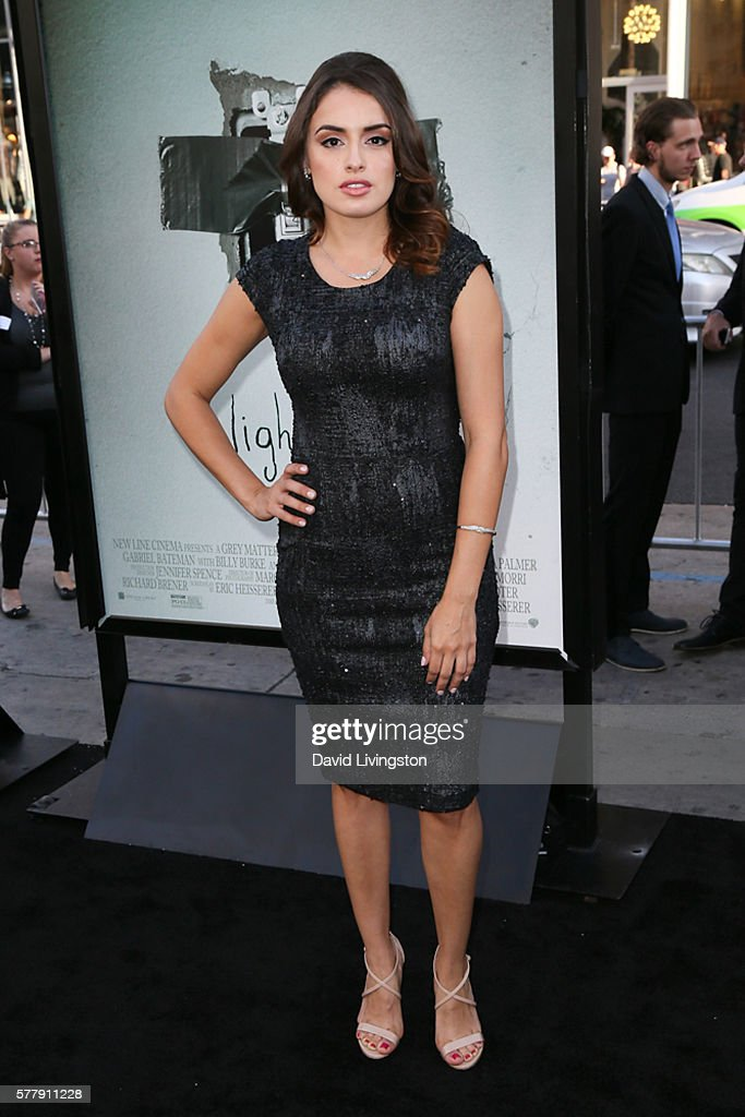 Vannessa Vasquez arrives at the premiere of New Line Cinema's 'Lights Out' at the TCL Chinese Theatre on July 19 2016 in Hollywood California