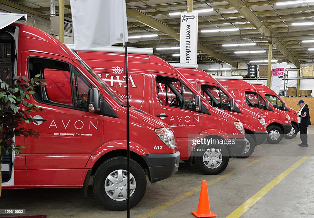 Vans are lined up as Avon Kicks off the SAY YES TO AVON BEAUTY on January 11, 2013 in Columbus, Ohio.