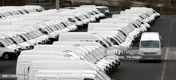 LDV Vans are returned to storage at the LDV Vans works at Washwood Heath Birmingham