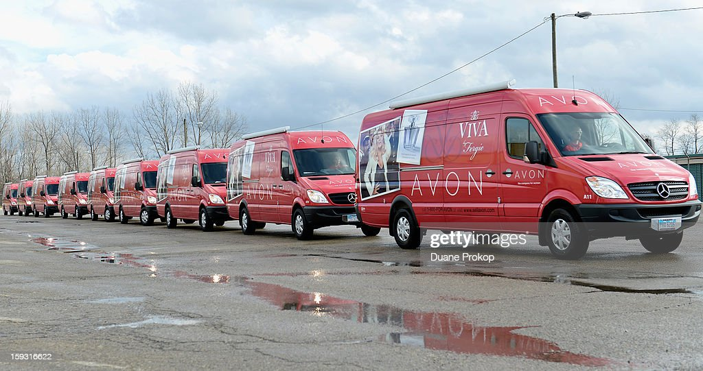 Vans line up as Avon Kicks off the SAY YES TO AVON BEAUTY on January 11, 2013 in Columbus, Ohio.