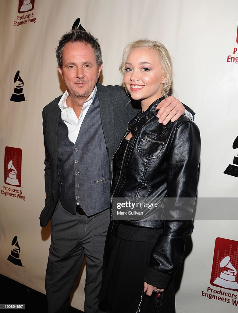 C. J. Vanston (L) and guest attend The 55th Annual GRAMMY Awards - P&E Wing Event Honoring Quincy Jones And Al Schmitt held at The Village on February 6, 2013 in West Los Angeles, California.