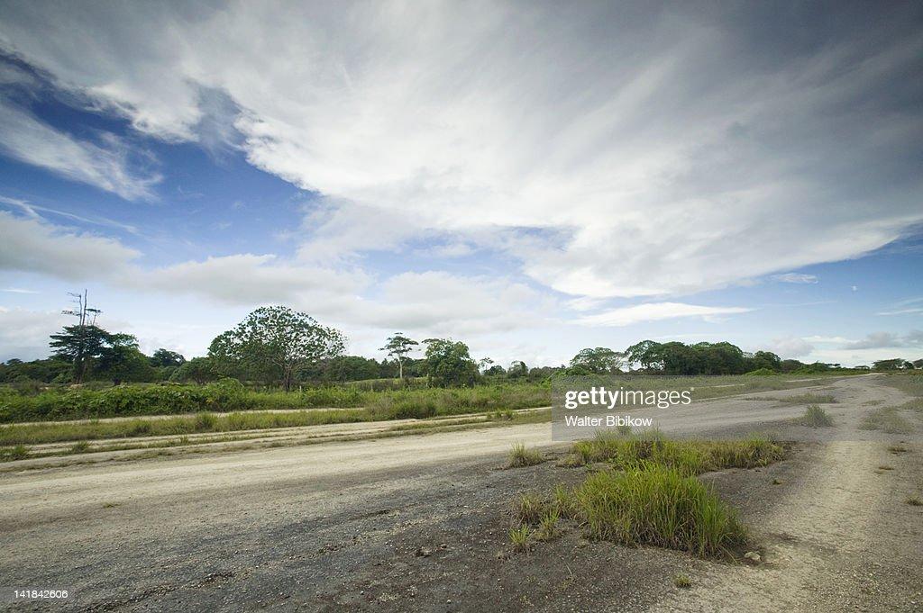 VANUATU-Espiritu Santo Island-LUGANVILLE: Lambue WW2 abandoned airfield : Stock Photo