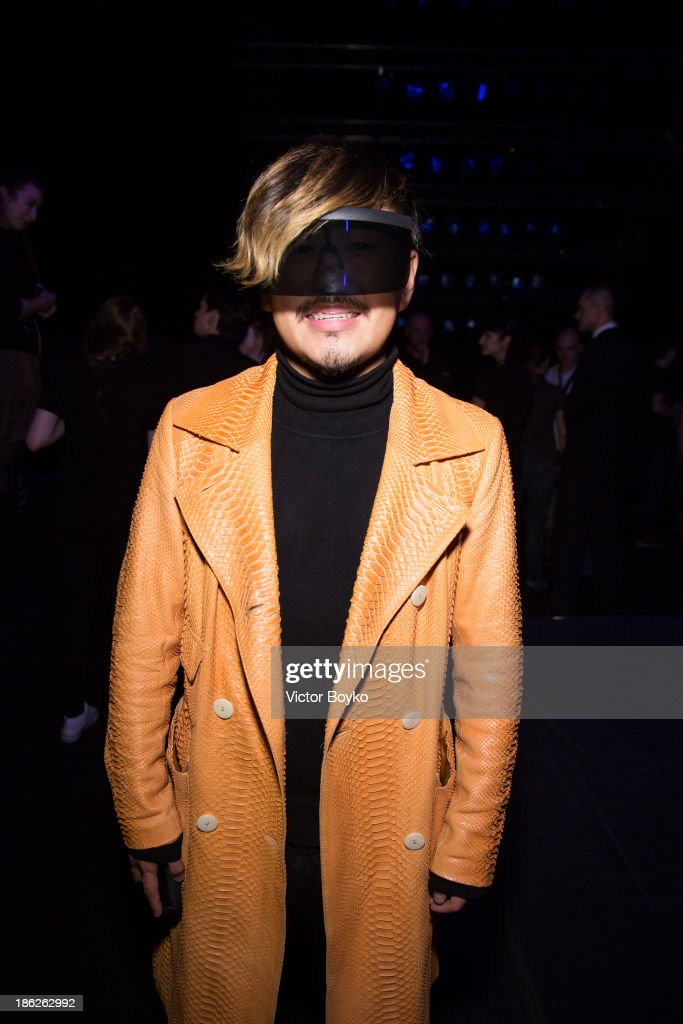 Vanya Vasiliev attends the Muscovites by Mashsa Kravtsova show of Mercedes-Benz Fashion Week S/S 14 on October 29, 2013 in Moscow, Russia.