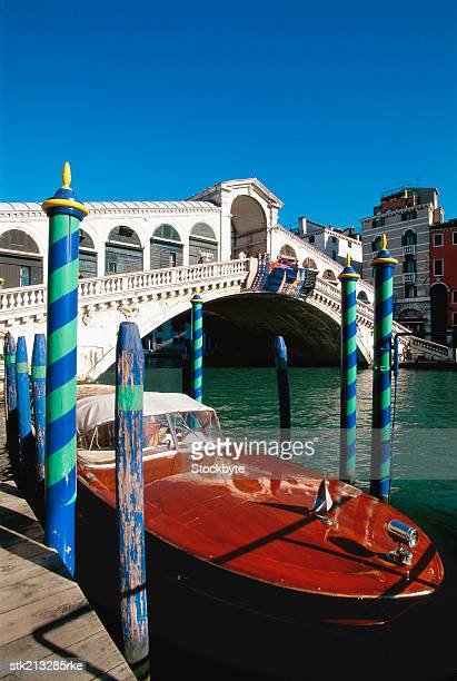 Vaporetto under the Rialto Bridge over the Grand Canal, Venice, Italy
