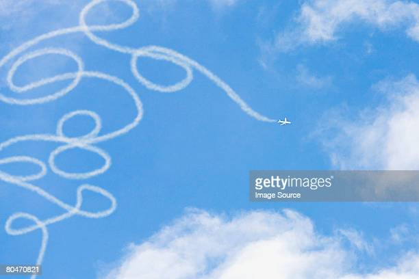Vapour pattern in the sky