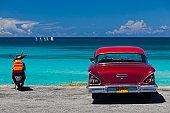 Varadero Beach with 1958 US-made Cheverlot