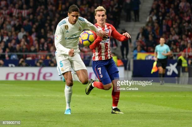 Varane #5 of Real Madrid during The La Liga match between Club Atletico Madrid v Real Madrid at Wanda Metropolitano on November 18 2017 in Madrid...