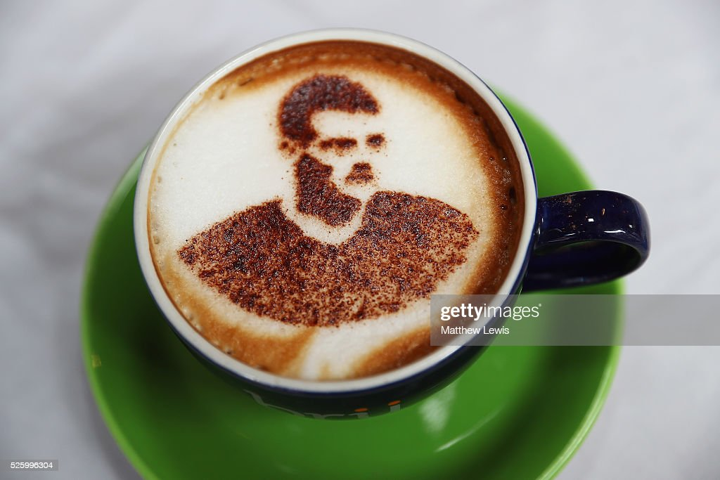 A Vardyccino is pictured at Bru Coffee shop, as they show their support towards Leicester City FC during a Leicester Backing the Blues Campaign in support of Leicester City on April 29, 2016 in Leicester, England.