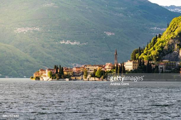 Varenna village at sunset. Varenna, lake Como, Lecco, Lombardy