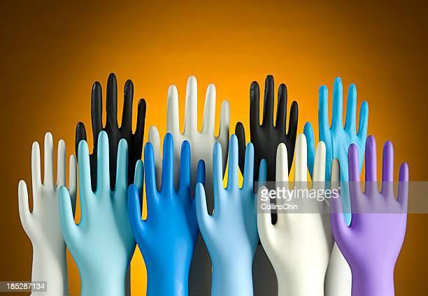 Vielfalt von Latex-Handschuh