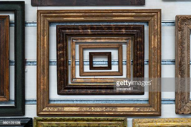 Variation of wooden picture frames