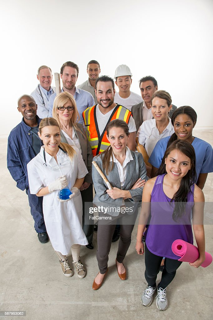 Varied Group of Adult Professionals : Stock Photo