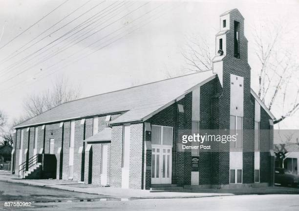 Varied use of stone and brick work in the walls gives the Aurora Christian Church an interesting appearance The church which has a full basement is...
