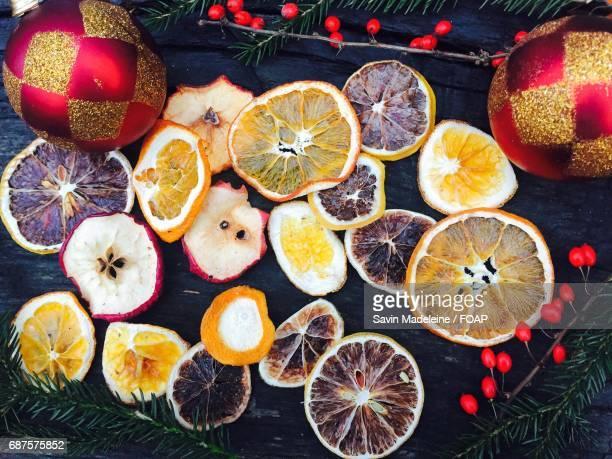 Varieties of fruit slices