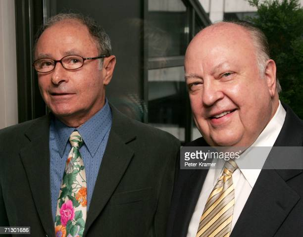 Variety Editor Peter Bart and Producer Roger Ailes attend a cocktail party hosted by Harvey and Bob Weinstein and Miramax Books to celebrate Peter...