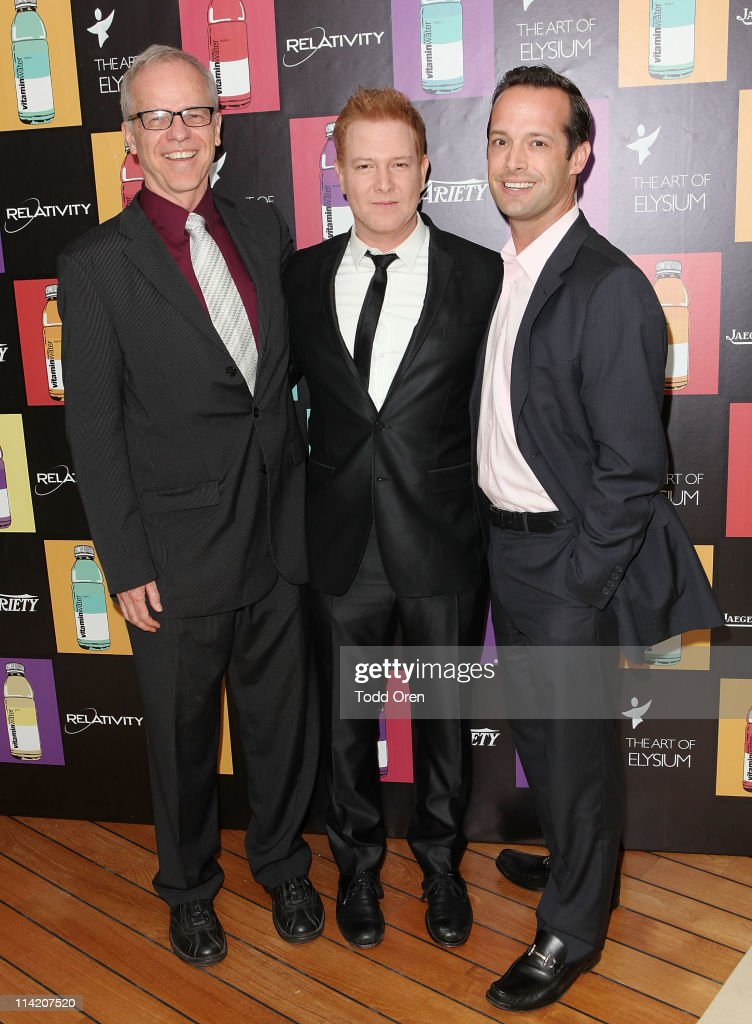 Variety Editor Timothy Gray, producer Ryan Kavanaugh and Variety Publisher Brian Gott attend the Art Of Elysium 3rd Annual Paradis Event hosted by vitaminwater at Hotel Du Cap on May 15, 2011 in Antibes, France.
