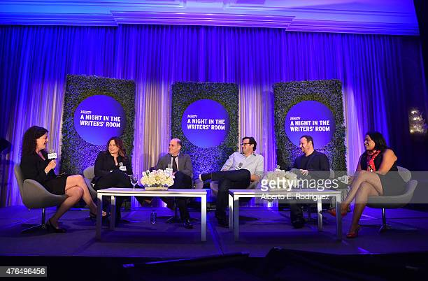 Variety Executive Editor TV Debra Birnbaum Writer Kerry Ehrin of 'Bates Motel' Writer Matthew Weiner of 'Mad Men' Writer Andrew Kreisberg of 'The...