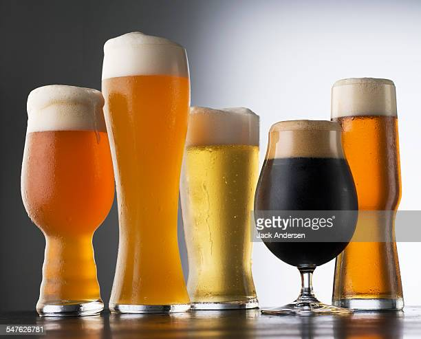 Variety of Beer glasses