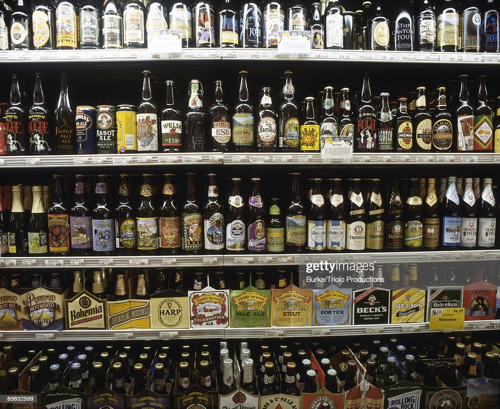 Variety of beers : Stock Photo
