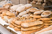 Variety of bread at outdoor market