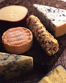 Variety of Cheese, High Angle View, Differential Focus